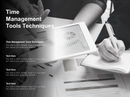 Time Management Tools Techniques Ppt Powerpoint Presentation Inspiration Cpb