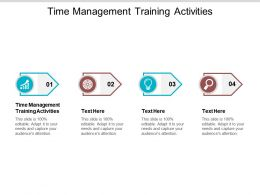 Time Management Training Activities Ppt Powerpoint Presentation Slides Designs Cpb