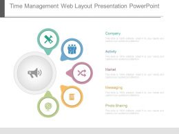 Time Management Web Layout Presentation Powerpoint