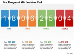 Time Management With Countdown Clock Flat Powerpoint Design