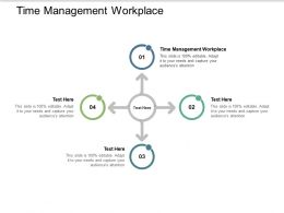 Time Management Workplace Ppt Powerpoint Presentation Infographics Pictures Cpb