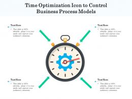 Time Optimization Icon To Control Business Process Models