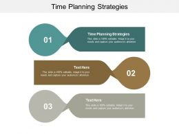 Time Planning Strategies Ppt Powerpoint Presentation Slides Icon Cpb