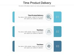 Time Product Delivery Ppt Powerpoint Presentation Styles Visual Aids Cpb