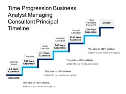 Time Progression Business Analyst Managing Consultant Principals Timeline