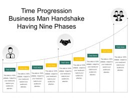 Time Progression Business Man Handshake Having Nine Phases