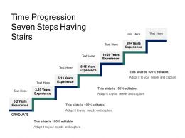 Time Progression Seven Steps Having Stairs