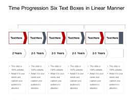 Time Progression Six Text Boxes In Linear Manner
