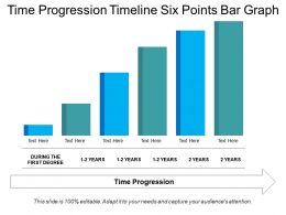 Time Progression Timeline Six Points Bar Graph