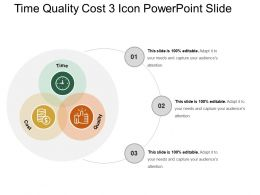 Time Quality Cost 3 Icon Powerpoint Slide