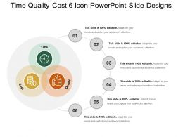 Time Quality Cost 6 Icon Powerpoint Slide Designs