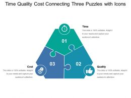Time Quality Cost Connecting Three Puzzles With Icons
