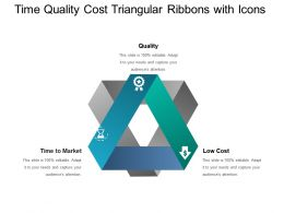 Time Quality Cost Triangular Ribbons With Icons