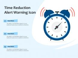 Time Reduction Alert Warning Icon