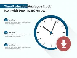 Time Reduction Analogue Clock Icon With Downward Arrow