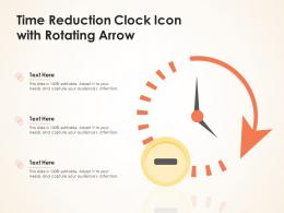 Time Reduction Clock Icon With Rotating Arrow