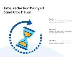 Time Reduction Delayed Sand Clock Icon