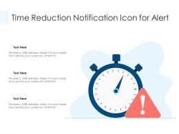 Time Reduction Notification Icon For Alert