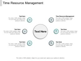 Time Resource Management Ppt Powerpoint Presentation Infographics File Formats Cpb
