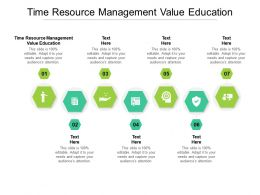 Time Resource Management Value Education Ppt Powerpoint Show Icon Cpb