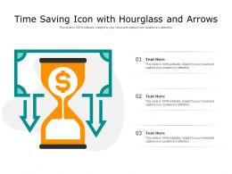 Time Saving Icon With Hourglass And Arrows
