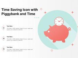 Time Saving Icon With Piggybank And Time