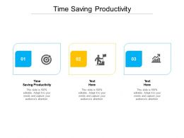 Time Saving Productivity Ppt Powerpoint Presentation File Example File Cpb