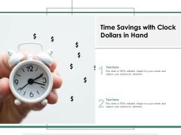 Time Savings With Clock Dollars In Hand