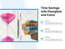 Time Savings With Hourglass And Coins