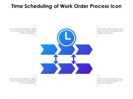 Time Scheduling Of Work Order Process Icon