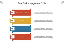 Time Self Management Skills Ppt Powerpoint Presentation Ideas Templates Cpb