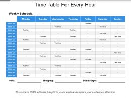 Time Table For Every Hour
