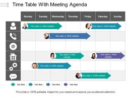Time Table With Meeting Agenda