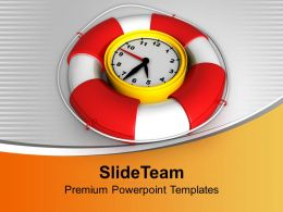 Time To Be Safe Clock With Safeguard Powerpoint Templates Ppt Themes And Graphics 0213
