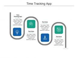 Time Tracking App Ppt Powerpoint Presentation File Layouts Cpb