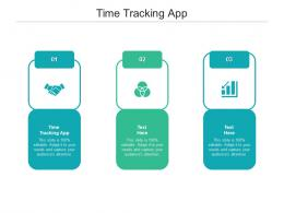 Time Tracking App Ppt Powerpoint Presentation Infographics Elements Cpb