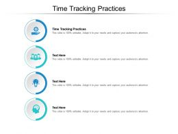 Time Tracking Practices Ppt Powerpoint Presentation Professional Graphics Cpb