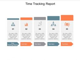 Time Tracking Report Ppt Powerpoint Presentation Styles Example File Cpb