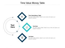 Time Value Money Table Ppt Powerpoint Presentation Infographic Template Master Slide Cpb