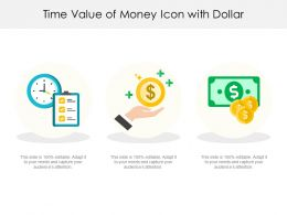 Time Value Of Money Icon With Dollar