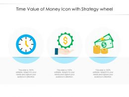 Time Value Of Money Icon With Strategy Wheel