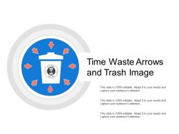 Time Waste Arrows And Trash Image