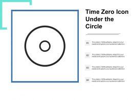 Time Zero Icon Under The Circle