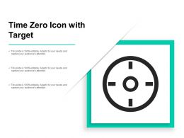 Time Zero Icon With Target