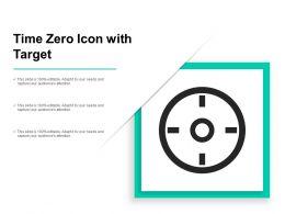 Time Zero Icon With Target