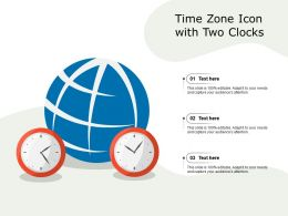 Time Zone Icon With Two Clocks