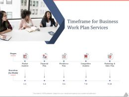 Timeframe For Business Work Plan Services Ppt Powerpoint Presentation File Files