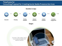 Timeframe For Consulting Proposal For Creating Social Media Presence Services Ppt Icon