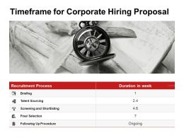 Timeframe For Corporate Hiring Proposal Ppt Powerpoint Presentation Icon Elements