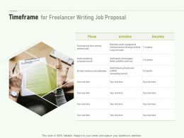 Timeframe For Freelancer Writing Job Proposal Ppt Powerpoint Presentation Rules